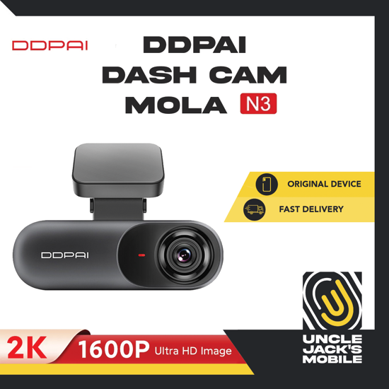Picture of DDPAI Dash Cam Mola N3 - 2K 1600P Ultra HD Image - 1 Year Warranty