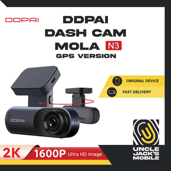 Picture of DDPAI Dash Cam Mola N3 (GPS Version) - 2K 1600P Ultra HD Image - 1 Year Warranty