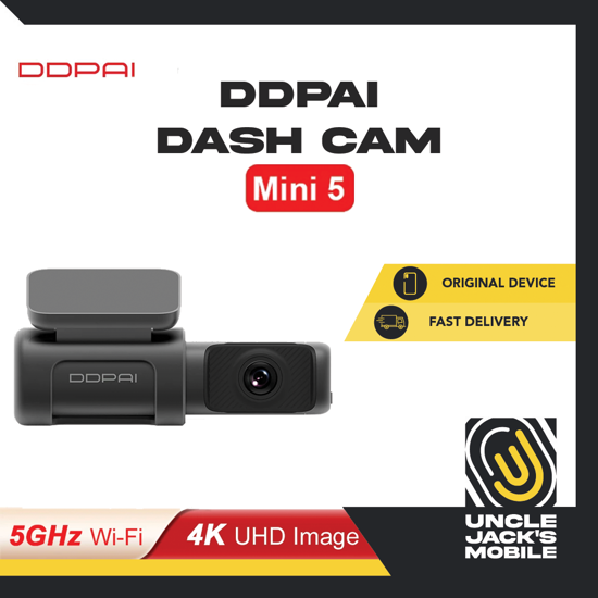 Picture of DDPAI Dash Cam Mini 5 - 4K Ultra HD Image Camera 5GHz Fast WiFi Connection - 1 Year Warranty